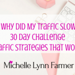 30 Day Challenge Traffic Strategies Day 5-6  What To Do When Traffic Slows Down